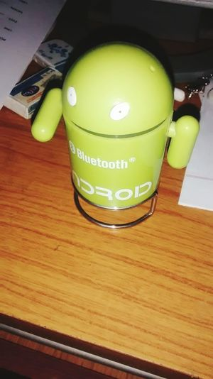 My baby android MotoGeography Bluetooth Speaker Green Green Green!  Robot Look
