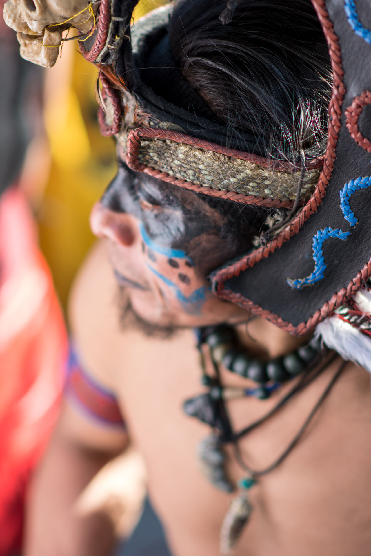 The chief of the clan! Adult Adults Only Arts Culture And Entertainment Beauty Ceremony Close-up Cultures Dancer Day Event Feather  Headdress Headwear One Woman Only Only Women Outdoors People Performance Period Costume Religion Tradition Traditional Clothing Women Young Adult Young Women First Eyeem Photo