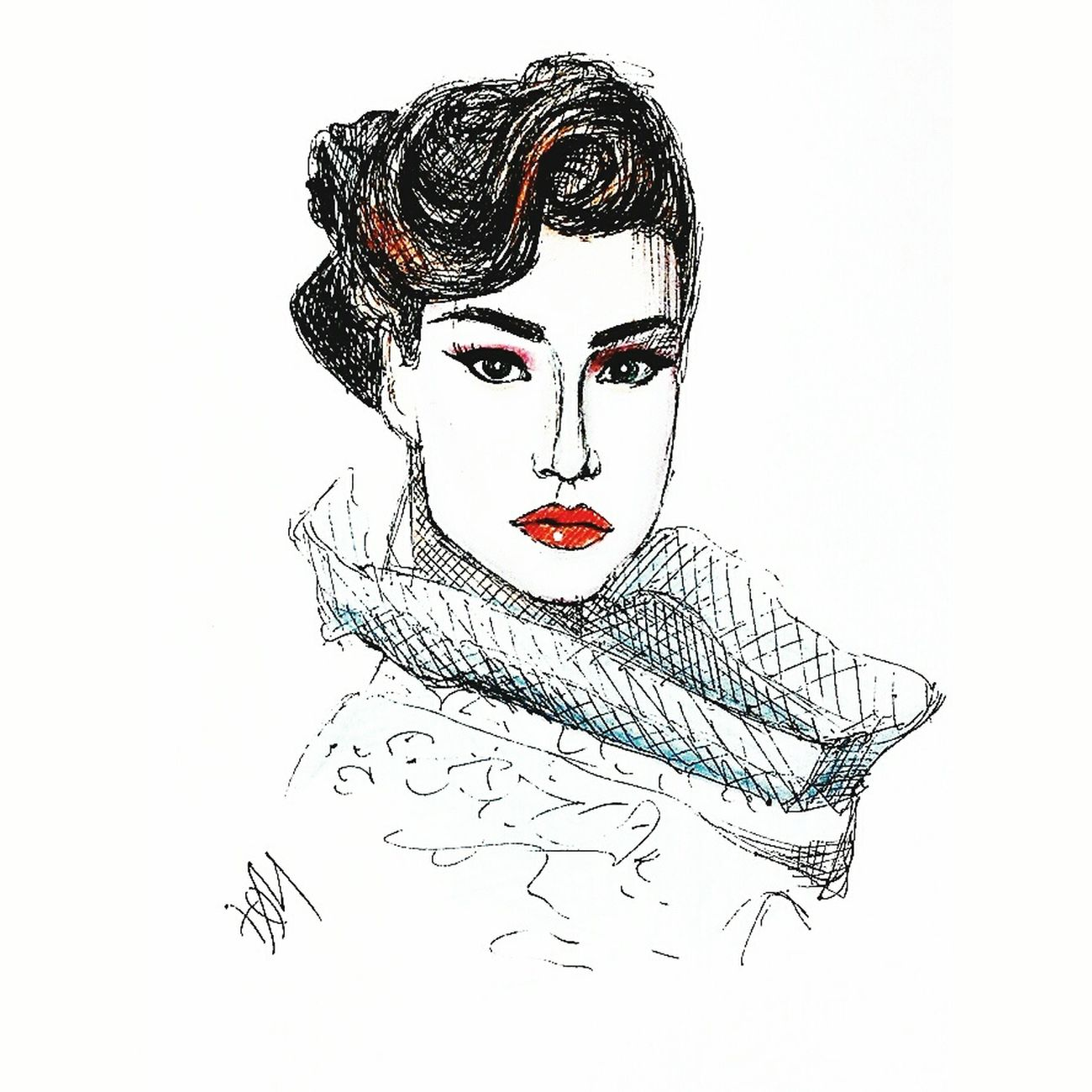 Fashionillustration Drawing Quicksketch Pen Graphic