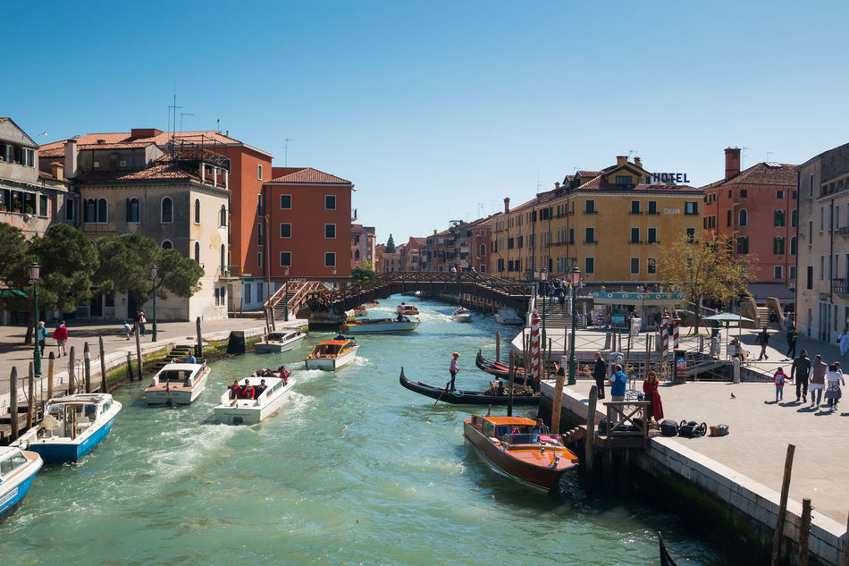 Architecture Blue Building Exterior Built Structure City Clear Sky Day Italy Nature Nautical Vessel No People Outdoors Sea Sky Sunlight Transportation Travel Destinations Tree Venice, Italy Water Waterfront