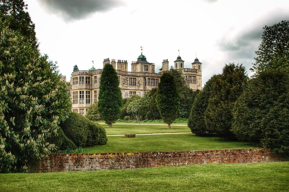 Building Exterior Architecture Green Color Grass Sky Built Structure Tree Lawn Outdoors Growth No People Day Dome Nature Audley End England