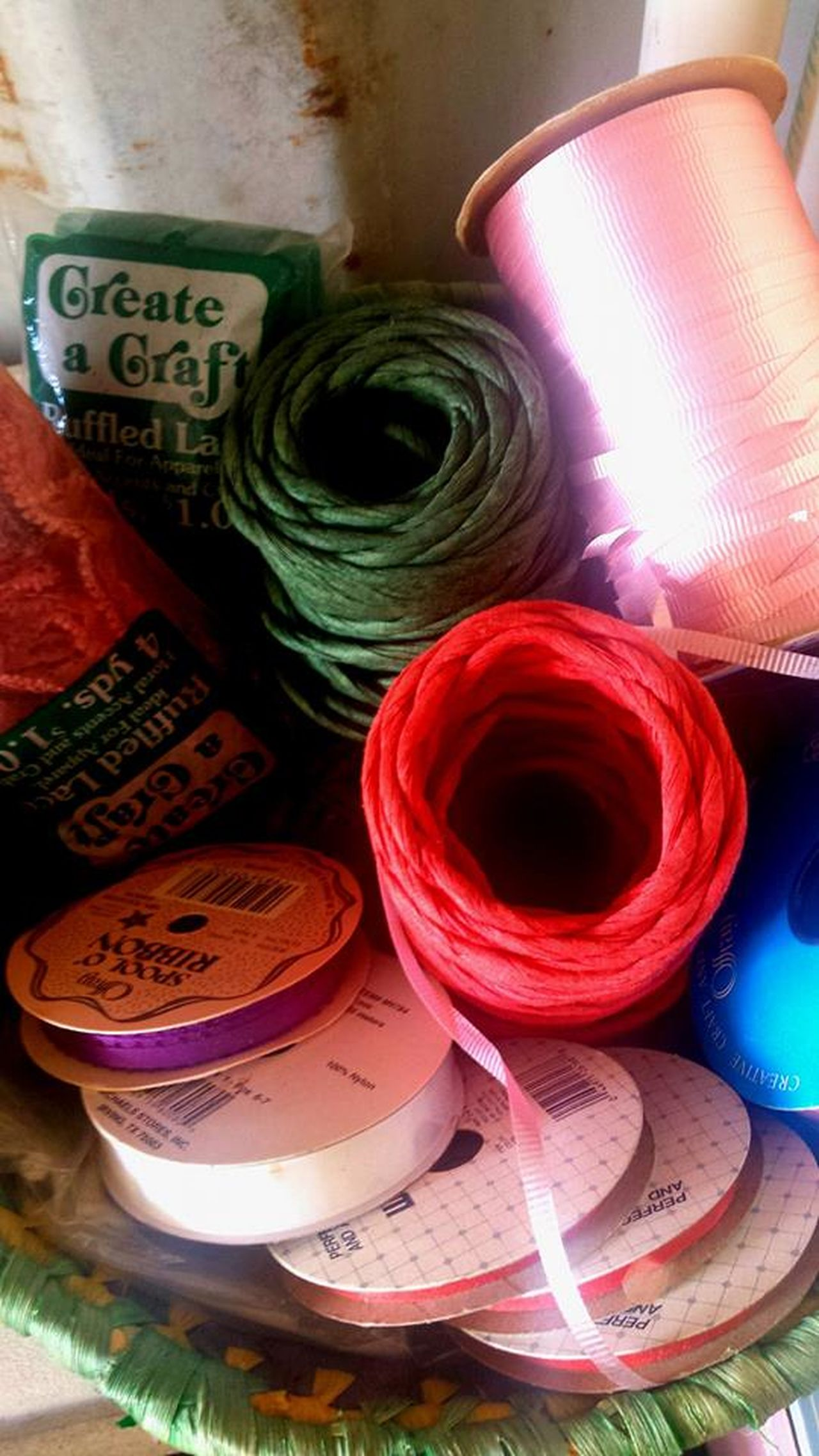 Close-up Crafts Day Indoors  Large Group Of Objects No People Red Rolled Up