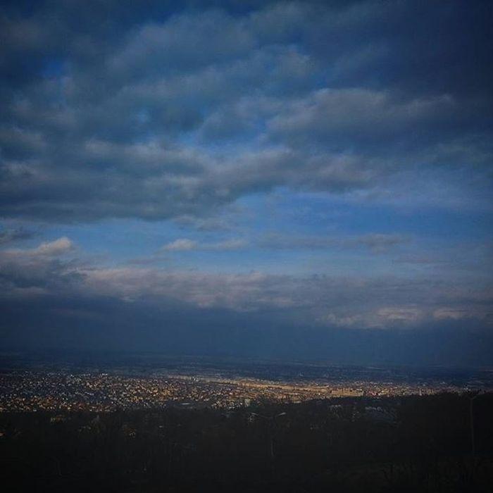 Budapest Ilovebudapest Spring Landscape Cityscape Urban Urbanscape Normafa Hilltop Hills Excoursion Trip Tour Mountains Clouds Cloudporn Colorful Sky Siluet Silhouette Skyporn