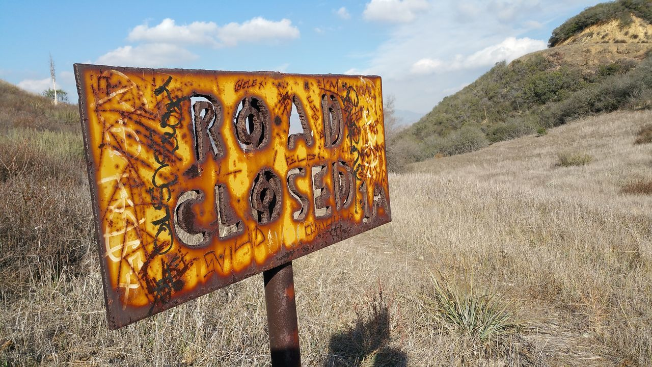 Closed Hiking Trail Sun Valley Burbank