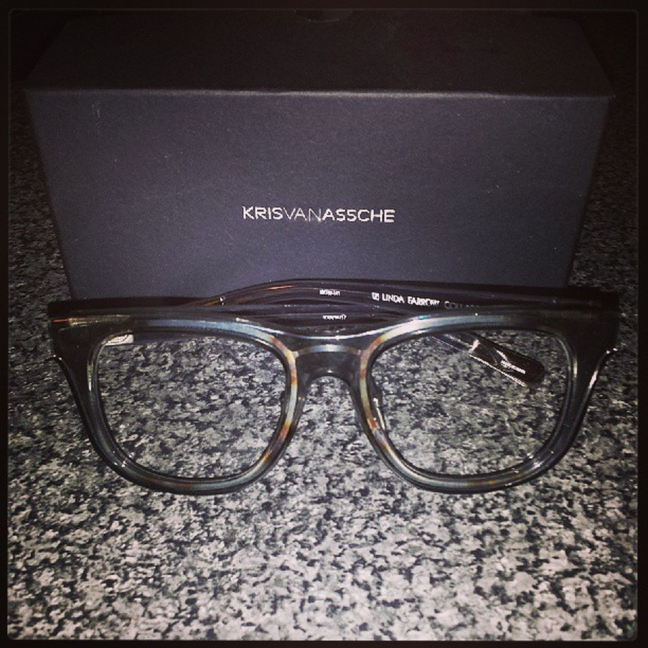 Gorgeous specs! ♡_♡HappyPanda GetOnMyFace NewOpticals LindaFarrow KrisVanAssche Fashion Classy KVA14s Igers IgersLondon SomersTown