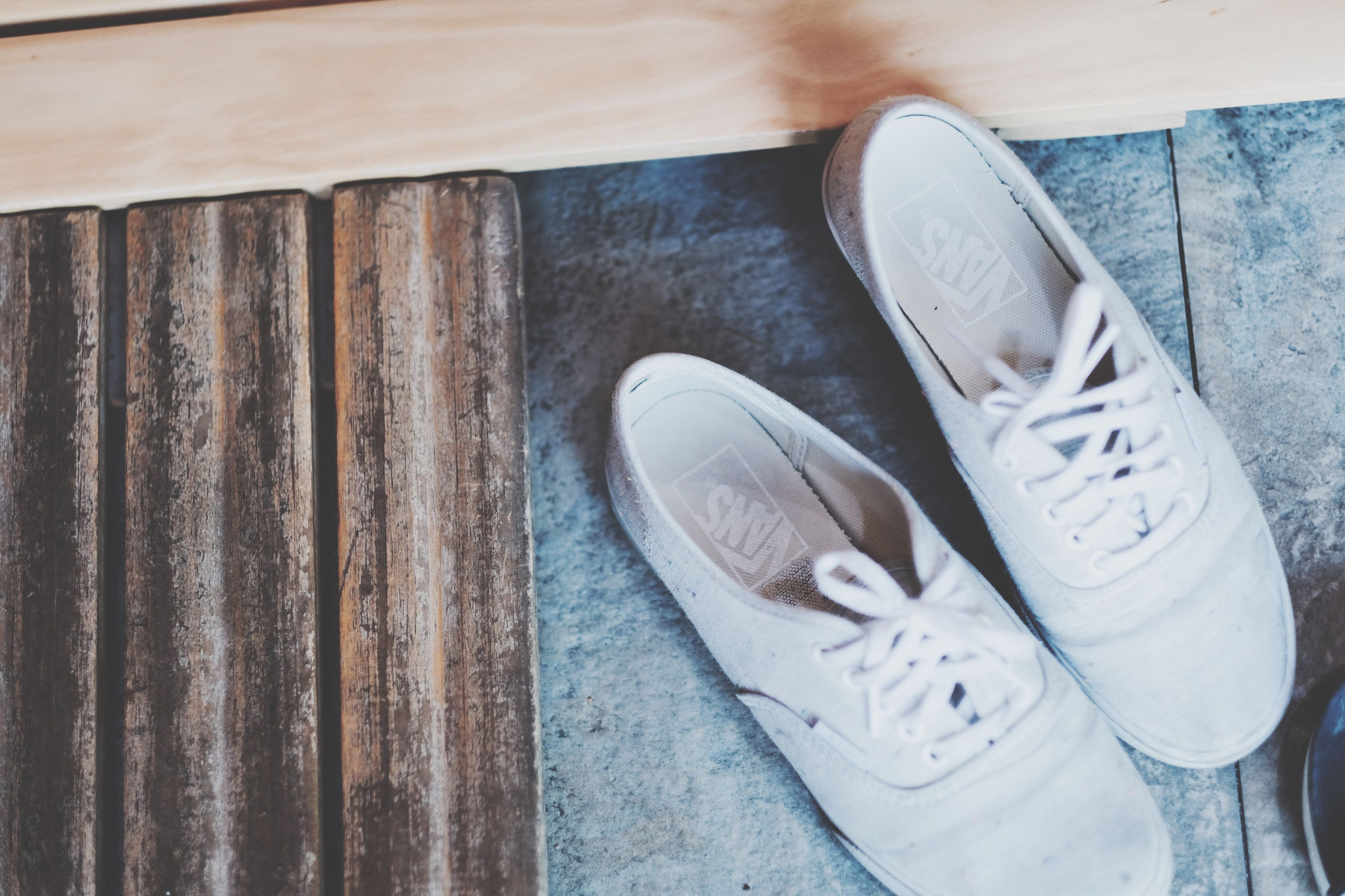 still life, shoe, wood - material, indoors, table, pair, high angle view, no people, close-up, day
