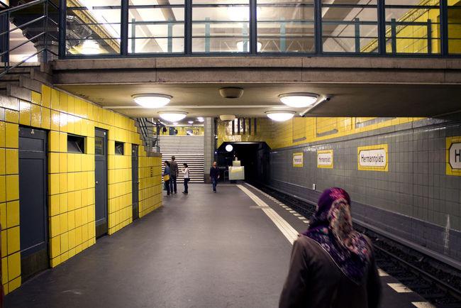 Berlin Hermannplatz Indoors  Public Transportation Subway Subway Station Transportation U-Bahn