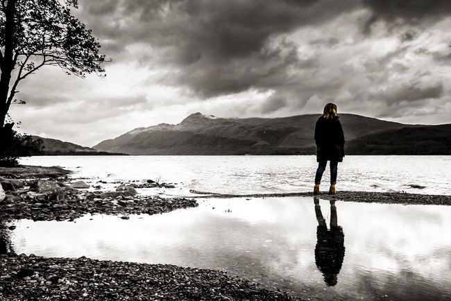 Loch Lomond, Scotland Water Mountain LochLomond Girl Beauty In Nature Clouds Lake Landscape Photography Photooftheday Photoshoot Shadow Blackandwhite Scenics Adventure Travel Scotland Home Capture The Moment Canon Art Travel Photography Picoftheday Landscape_Collection