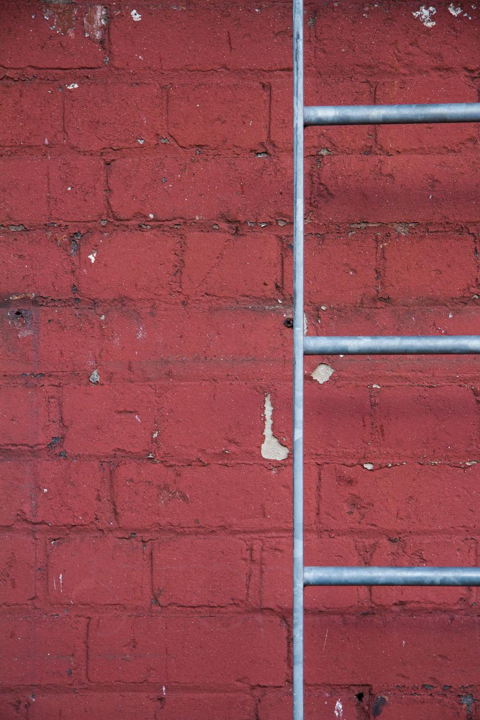 Bricks Climb Ladder Metal Red Street Streetphotography Urban Wall