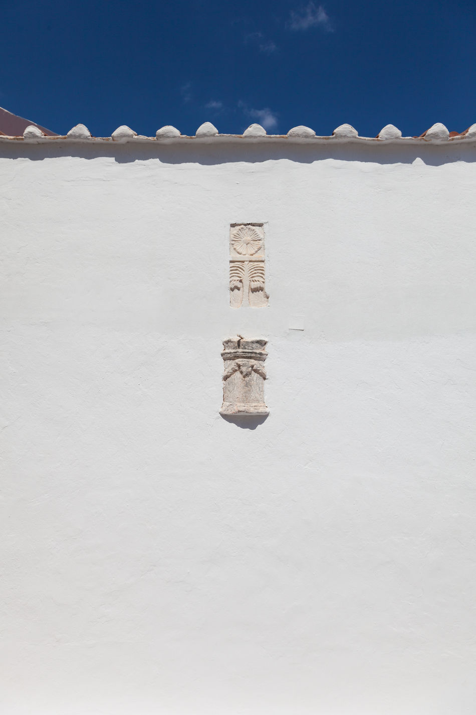 Lindos Rhodes Greece Ancient Blue Sky Church Churches Clear Sky Growth Lindos Nature No People Outdoors Rhodes Rhodos Symbol Symbols Vertical Wall White