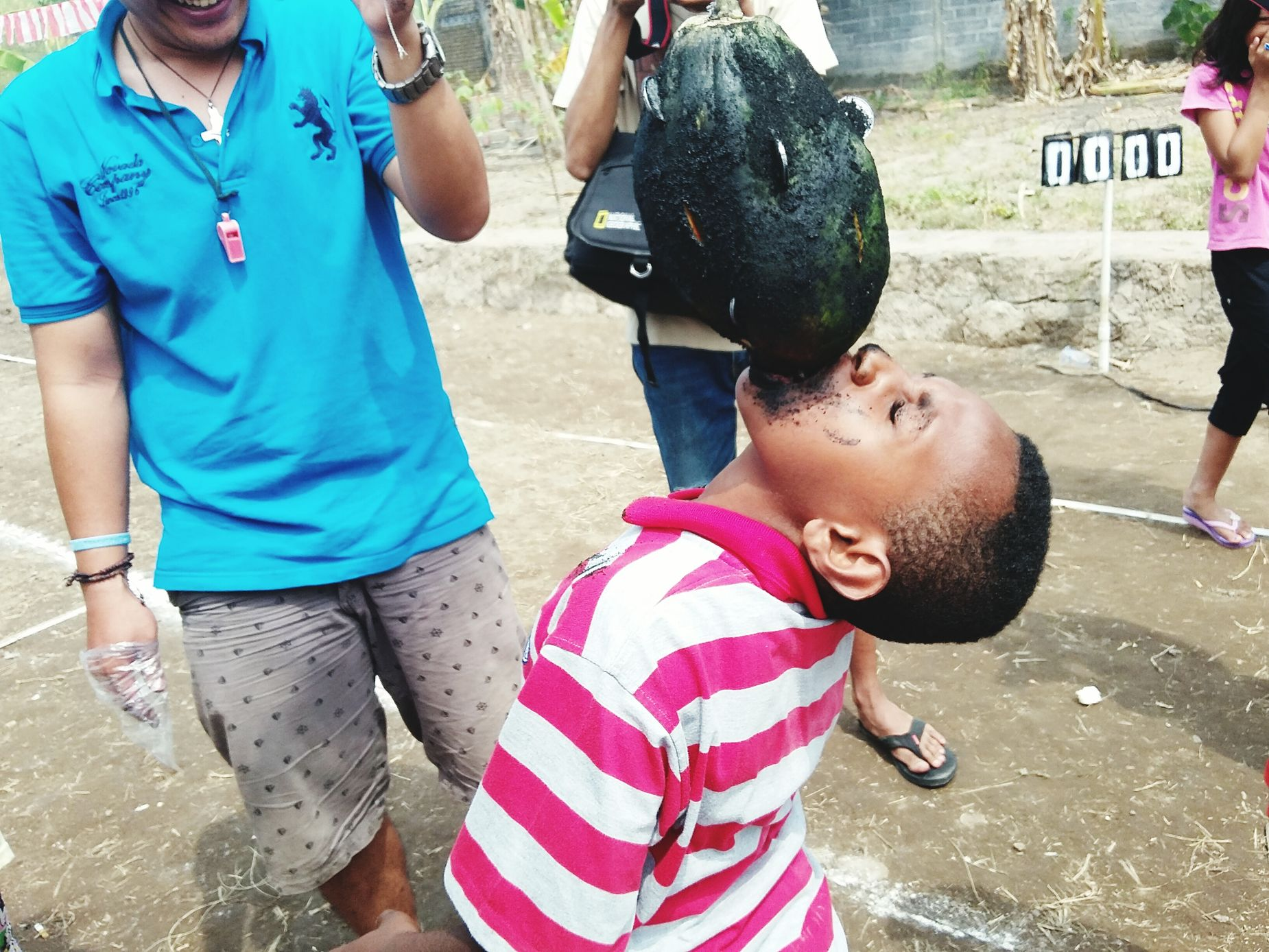 Collected Community Pull Out Coins Semarak17an Lomba 17 Agustus Independence Day Celebration INDONESIA