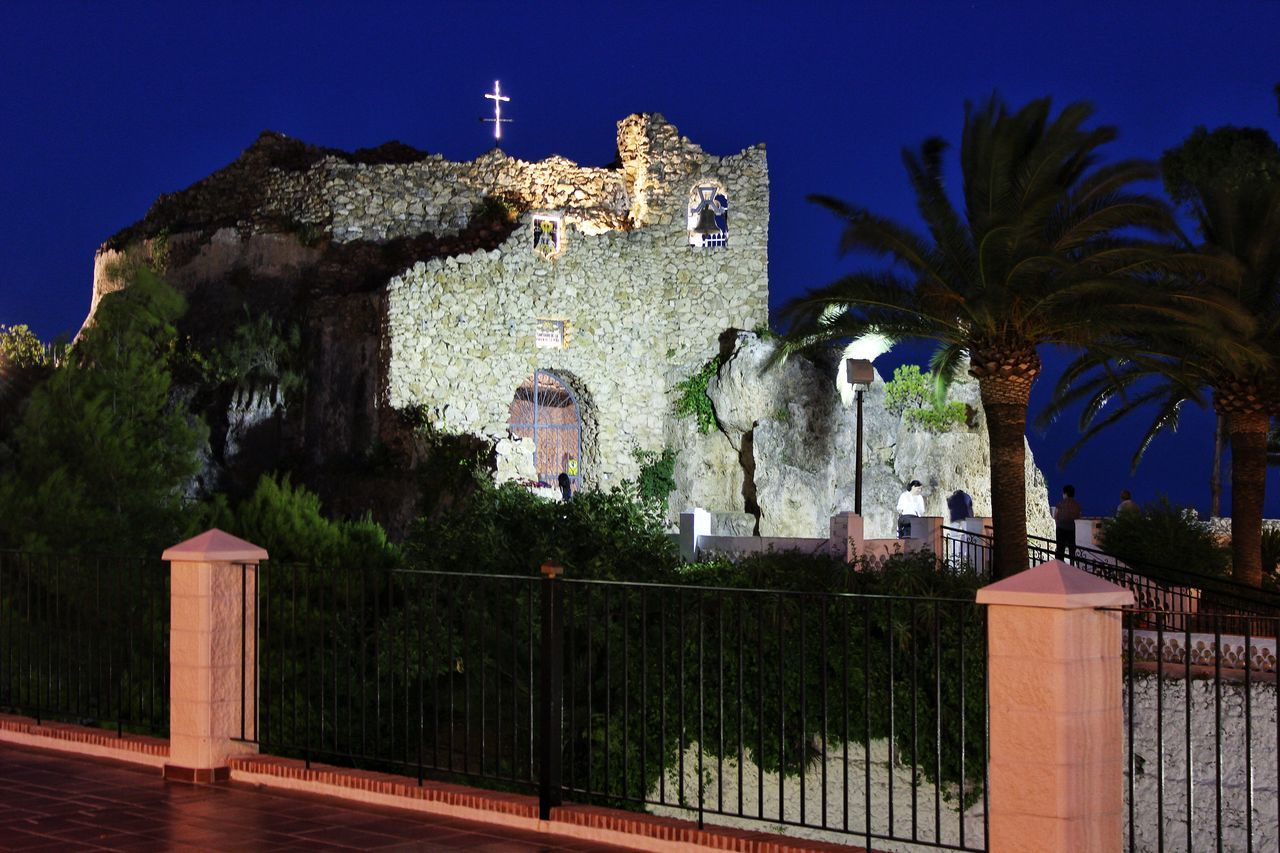 Shrine to the Virgen de la Peña, Mijas Pueblo Mijas Mijasforever Mijasvilage Pueblo Mijas Night Night Lights Nightphotography Night Photography Night View Nightshot EyeEm Night Shots EyeEm Nightscape Eyeem Night Nightlights Nightscape Nightview Canon EOS 600D Canon EOS 600D DSLR