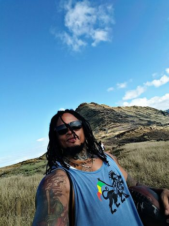 whap? People Taking Photos Badass Check This Out Badboy Thats Me  Dreadhead From My Point Of View My Unique Style Rasta Love Island Life Hiking Hawaii