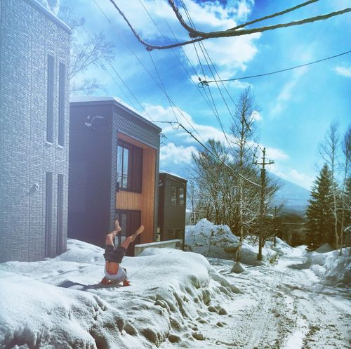 EyeEmNewHere Snowtiger Niseko Mountains And Sky Yoga Snow ❄ EyeEmNewHere