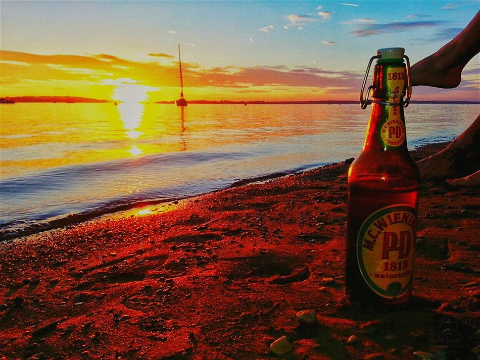 Relax The Essence Of Summer Beach Relaxing Beachlife Sunset Sailboat Beer Sunchair Lakeview Lake Bavaria Landscape Chiemsee 43 Golden Monents