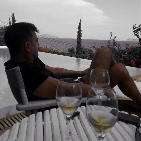 Porto Heli Greece Pelloponisos One Man Only Adults Only Wine Moments Tranquil Scene Pool Drinking Glass Enjoyment Travel Destinations Vacations