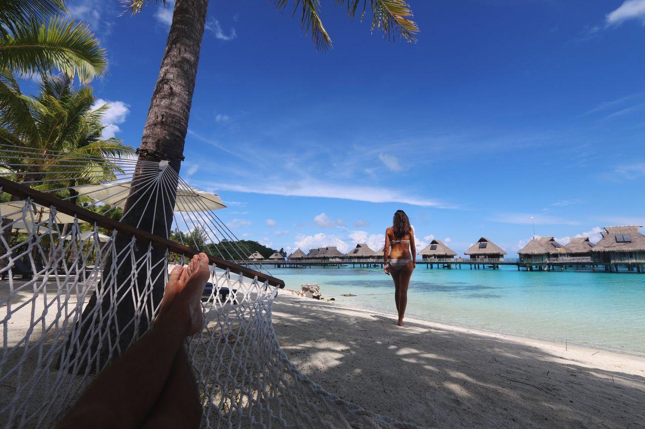 Beautiful stock photos of bora bora, Bikini, Blue, Calm, Day