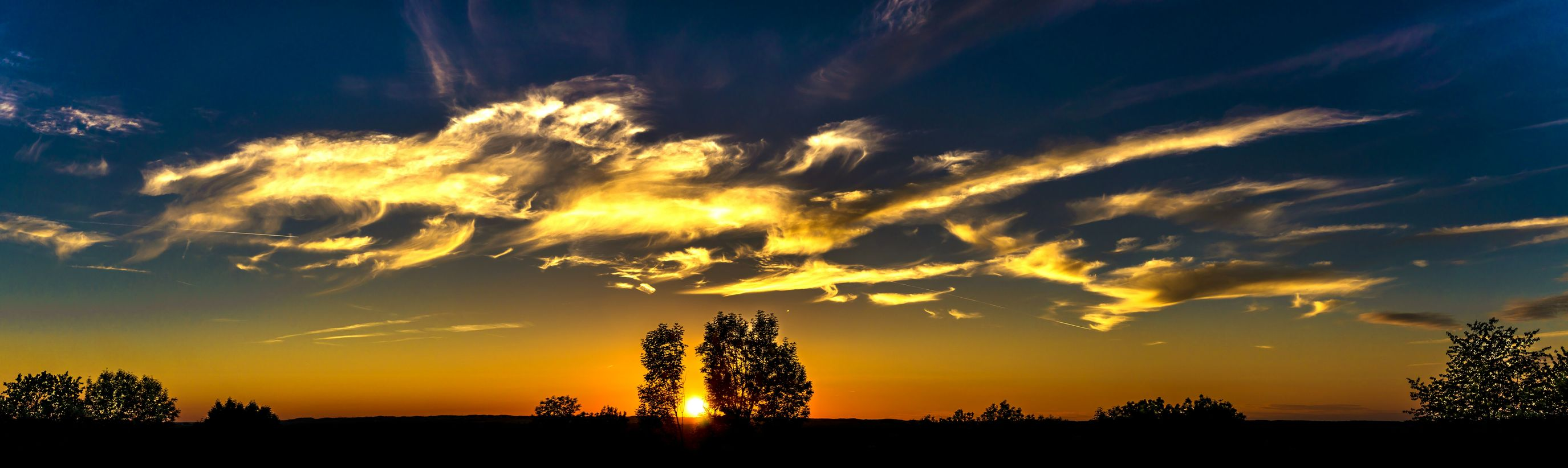 Panorama sunset Sunset Night Cloud - Sky Sky Tree Nature Outdoors Scenics Beauty In Nature Landscape Sun Sunrise Sky And Clouds Panorama Clouds Dusk Mood Moody Sky Evening Wild Screen Wallpaper Summer Skyscape Landscape_photography Landscapes