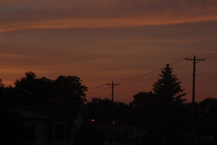 outside my house lol Sunset Silhouette Tree Connection Cable Electricity Pylon Power Line  Electricity  Power Supply Sky No People Nature Fuel And Power Generation Beauty In Nature Outdoors Technology Scenics Telephone Line