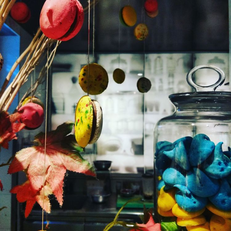 Indoors  Multi Colored Hanging Store Close-up Homedecoration