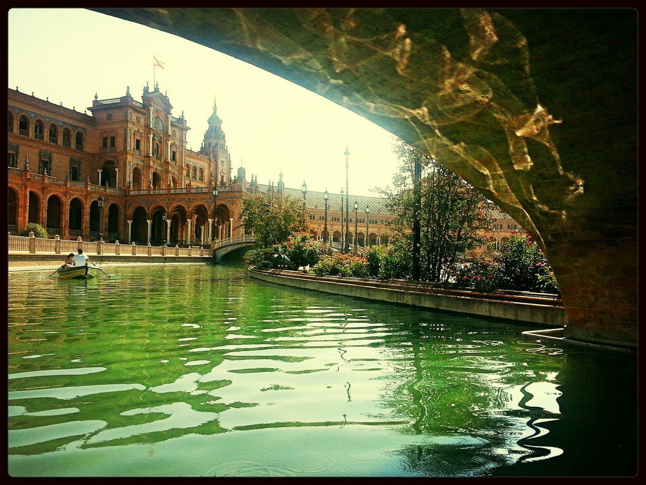 Parque De Maria Luisa Sevilla Gondola Watter Reflection
