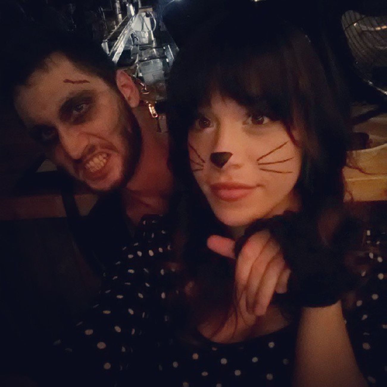 Me and my zombie love last night at the Freemancajuncafe ;)