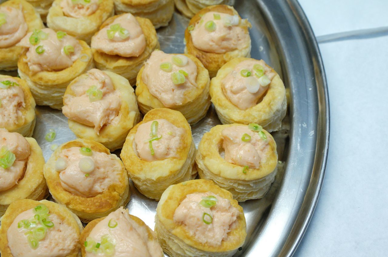 Close-up Day Food Food And Drink Freshness Fried High Angle View Indoors  No People Party Food Ready-to-eat Unhealthy Eating Vol Au Vent