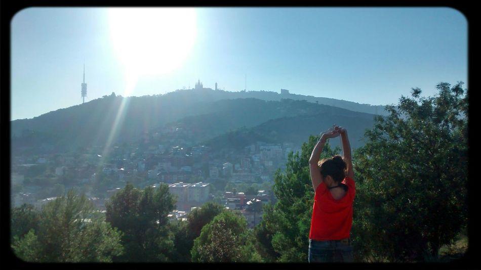 Good morning Tibidabo!!!Saludo al Sol Walking Around Enjoying The Sun