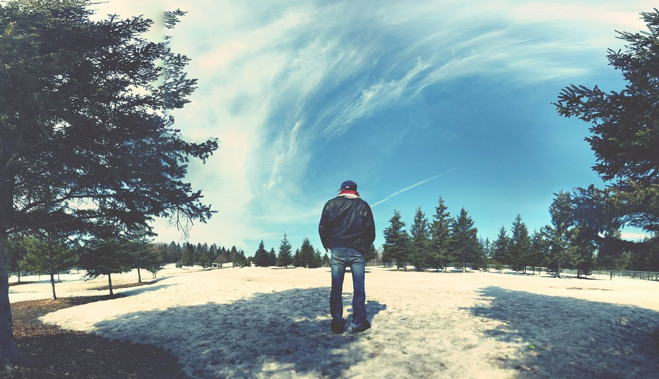 Long Goodbye Cloud - Sky Lifestyles Leisure Activity Sky Cold Temperature Beautiful Beauty In Nature One Person One Man Only Men Nature Outdoors People Adventure Tree