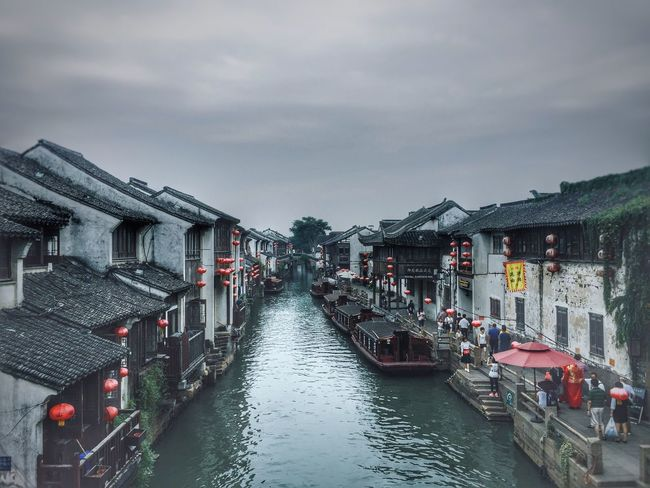 Architecture Historical Building Built Structure Building Exterior Water River Riverside Boat House Transportation Chinese Culture Traveling In China