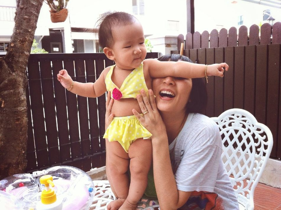 Beautiful stock photos of mother's day, Affectionate, Arms Outstretched, Asian Ethnicity, Baby