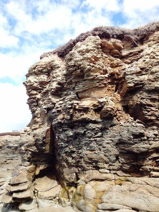 Sedimentary Rocks Coast Coastline Canada New Brunswick Ocean