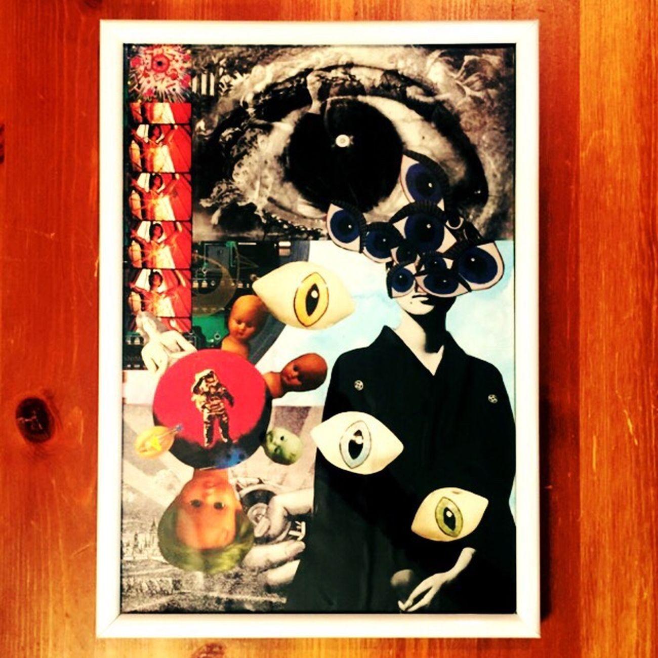 め Myartwork Eye Obsession Collage ArtWork Looking