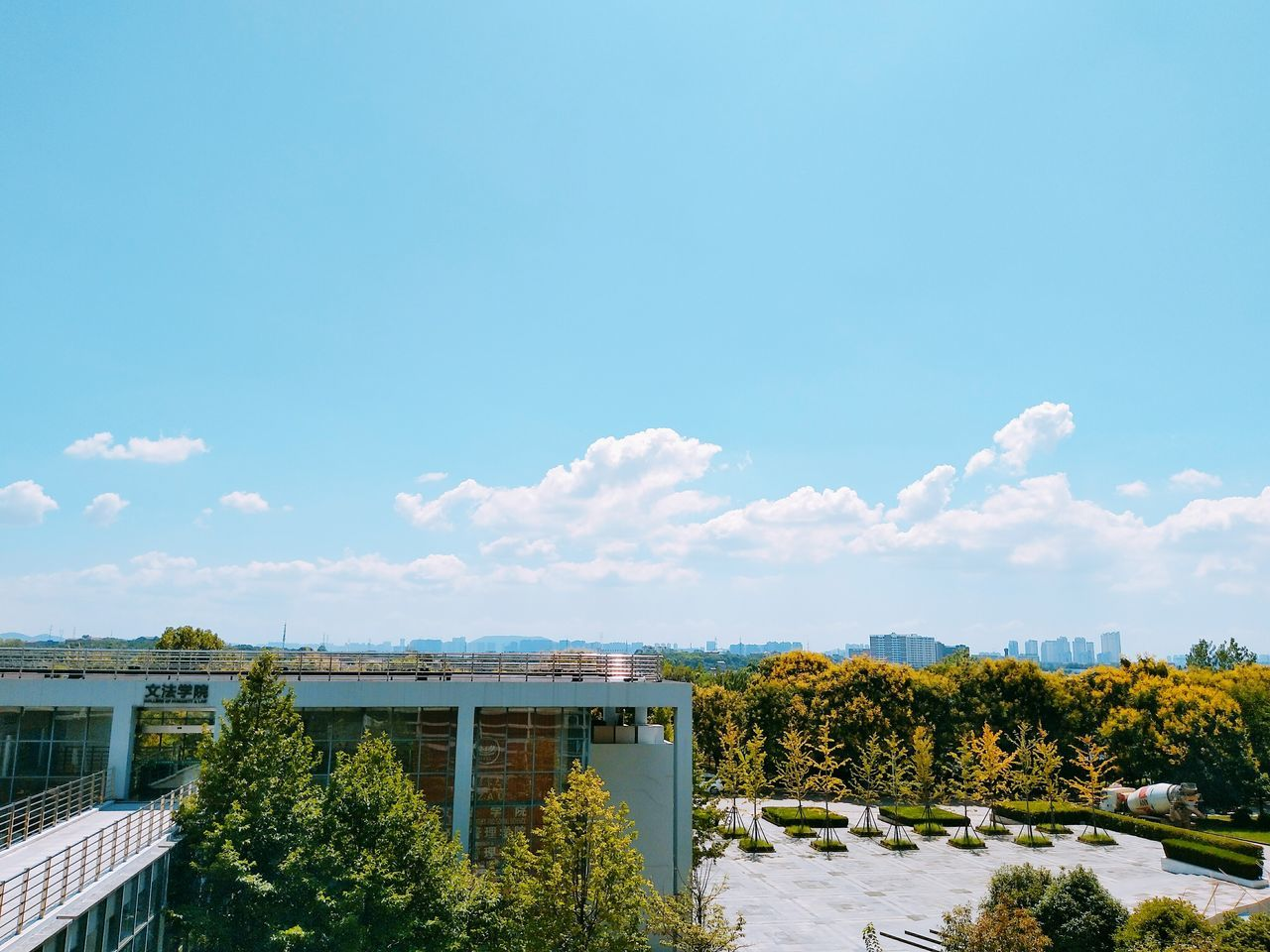 Sky Outdoors Day No People Blue Nature Wuhan,China Summer Holidays Beautiful Day China Summertime School Life  Some Trees