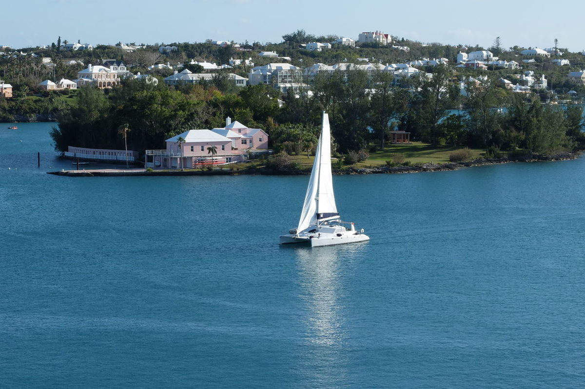 luxury Architecture Bermuda Building Exterior Built Structure Day Luxury Living Mode Of Transport Nature Nautical Vessel No People Outdoors Sailboat Sailboats Sailing Sea Sky Transportation Tree Water Waterfront