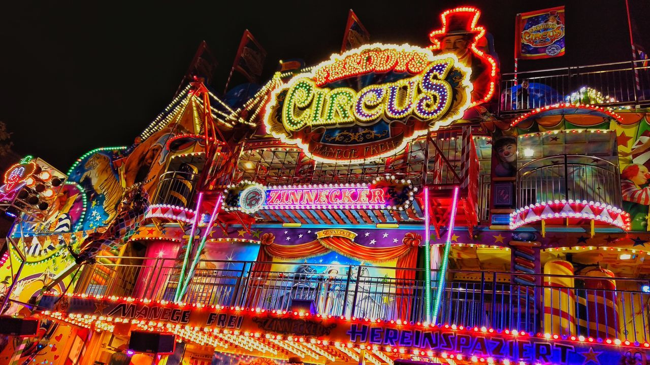 Architecture Built Structure Chinese Dragon Chinese Lantern Color Colorful Colors Cultures Illuminated Multi Colored Night No People Outdoors Party Sky Traditional Festival Volksfest Volksfestplatz Volksfest♥