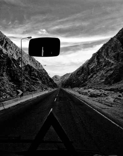 Sinai Mountain #bw5 Everydayphotograpy Mobilephotography Follow4follow An Eye For Travel #EyeEmNewHere Photooftheday Streetphotography Phonegraphy Street Photography PhonePhotography Mountain Sinai Sinai Egypt Sinaimountain Trip Photo Oneway Noback Bw Blackandwhite Black And White Black & White Road The Way Forward Transportation Photography Themes No People Car Day Sky Outdoors