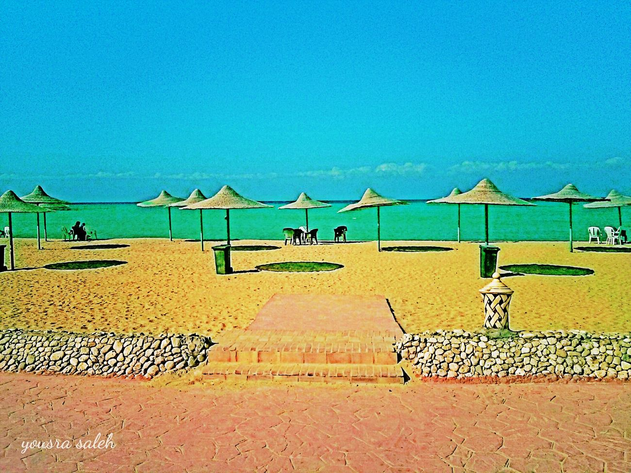 Colour Of Life Here Belongs To Me Beach Beach Photography Sea Seascape Sea And Sky Golden Sand Sand Nature Nature_collection Tranquility Naturelovers Beach Umbrellas Umbrellas Relaxing Relaxing View Last Summer Colorful Taking Photos Seaside Sea View Ras Sudr Egypt Smartphonephotography Love To Take Photos ❤ 10Oct_2015