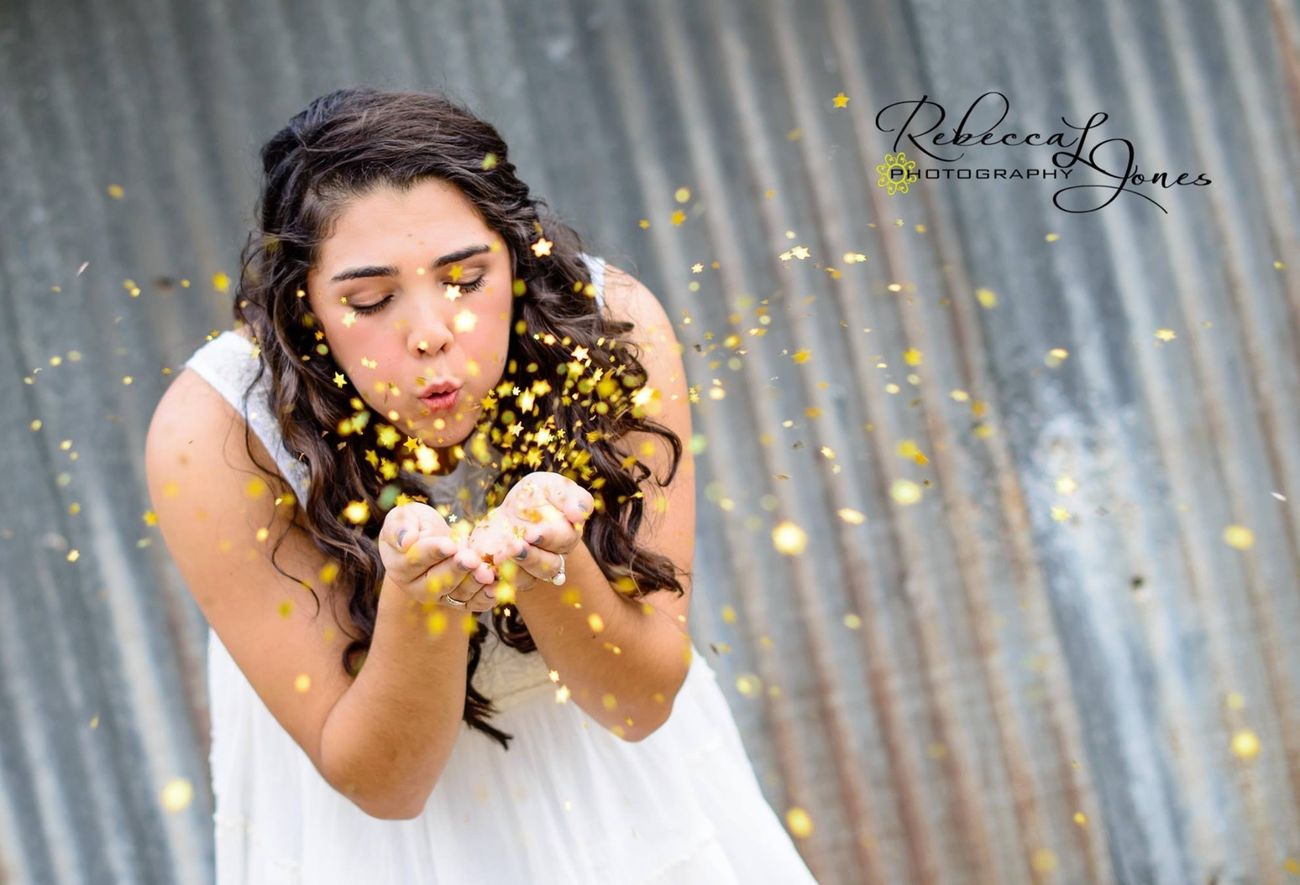 """When you wish upon a star..."" Senior Pictures  NikonD800 Magic Goldandwhite"