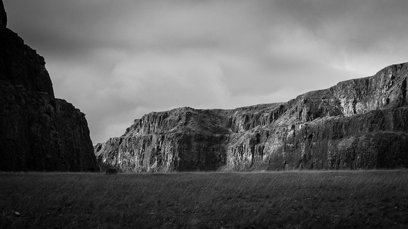 Mountain Sky Nature Landscape Beauty In Nature Geology Quarry Monochrome Photography Monochrome Blackandwhite Blackandwhite Photography