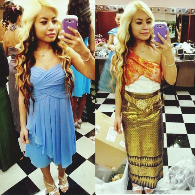 Cambodian American wedding outfits. Khmer Khmerican Wedding Cambodian