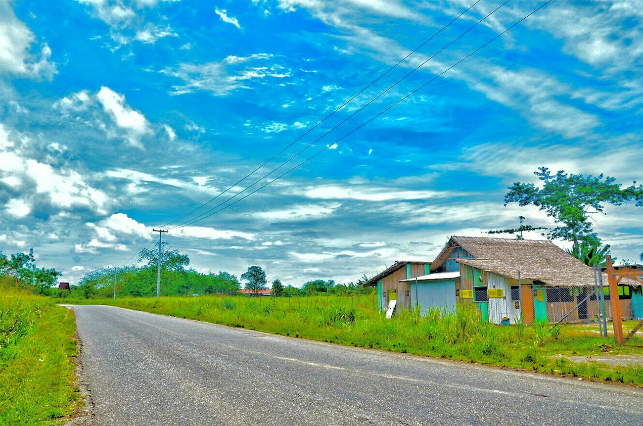 East Guadalcanal, Honiara country road,Honiara, Solomon Islands. Road The Way Forward Landscape Blue House Day Sky Countryside Outdoors