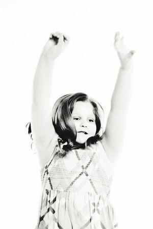 Happy Girl  Blackandwhite Bestoftheday People Photography EyeEm Kids Kids Being Kids Jump