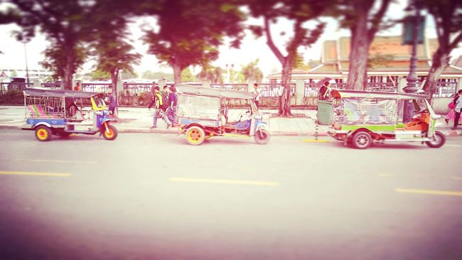 EyeEM Photos Mode Of Transport City Life Tuk Tuk In Bangkok EyeEm Bangkok Streetphotography Outdoors Street Photography Road Trip Local Transportation Pedestrians Battle Of The Cities People And Places