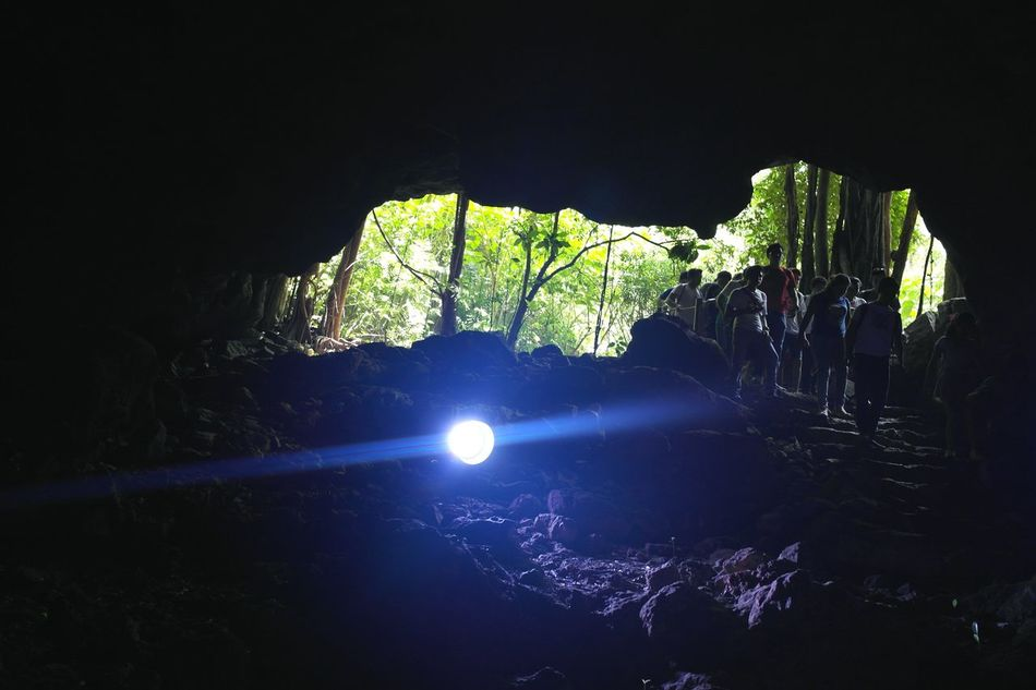 Entering the center of the earth Beauty In Nature Grottes Cenotes Yucatán, México Traveling Exploring Nature Darkness And Light Entrance Mayas