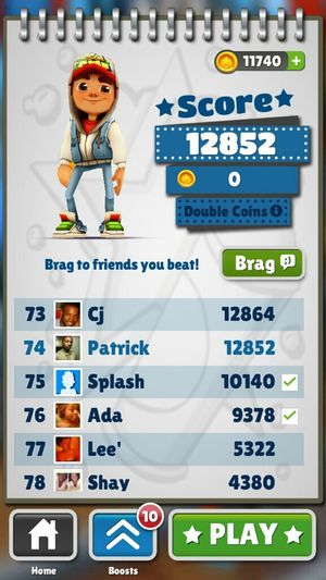 @adorah_ble checc my score out. and I just downloaded it lol