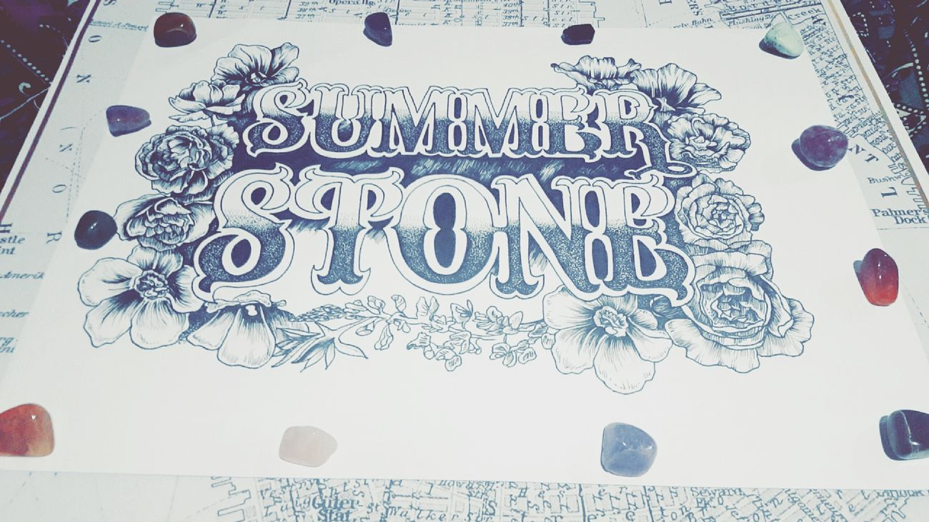 Logo Art Inspo Photography Artist Life Inspire Createdaily Melbourneartists Dotwork Text Gemstones Texan  Bluebonnets Flowers Illustration Fineliners Maps Summerstone