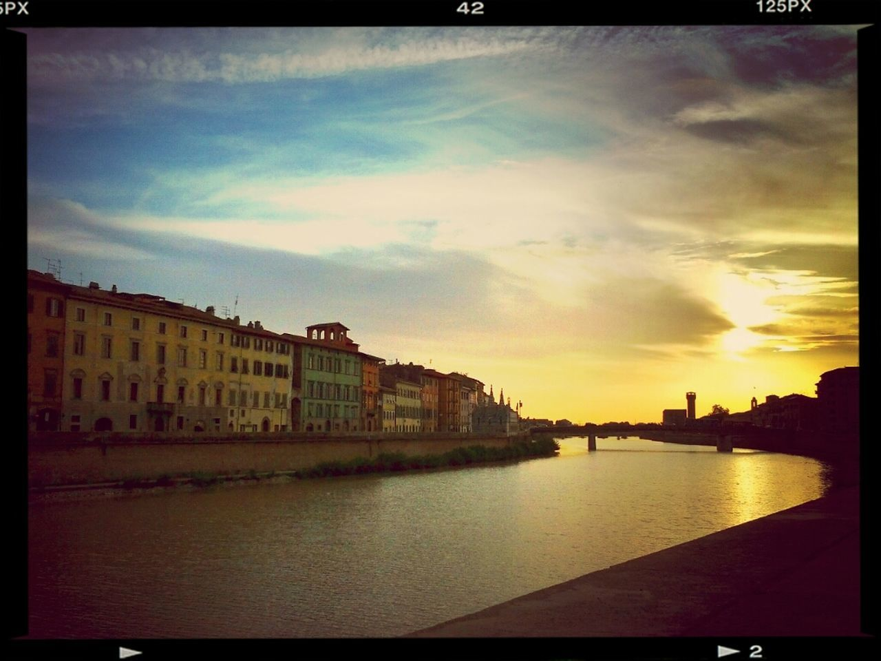 Sunset Pisa Riverside