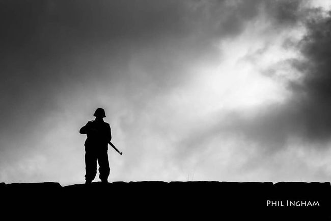 """On Patrol"" - Silhouette of a German WW2 soldier. Had a great shoot today with the members of ""Axis 44"" who recreate ww2 soldiers (American, British and German). Their outfits are out of this world. Silhouette Soldier Germany Shades Of Grey"
