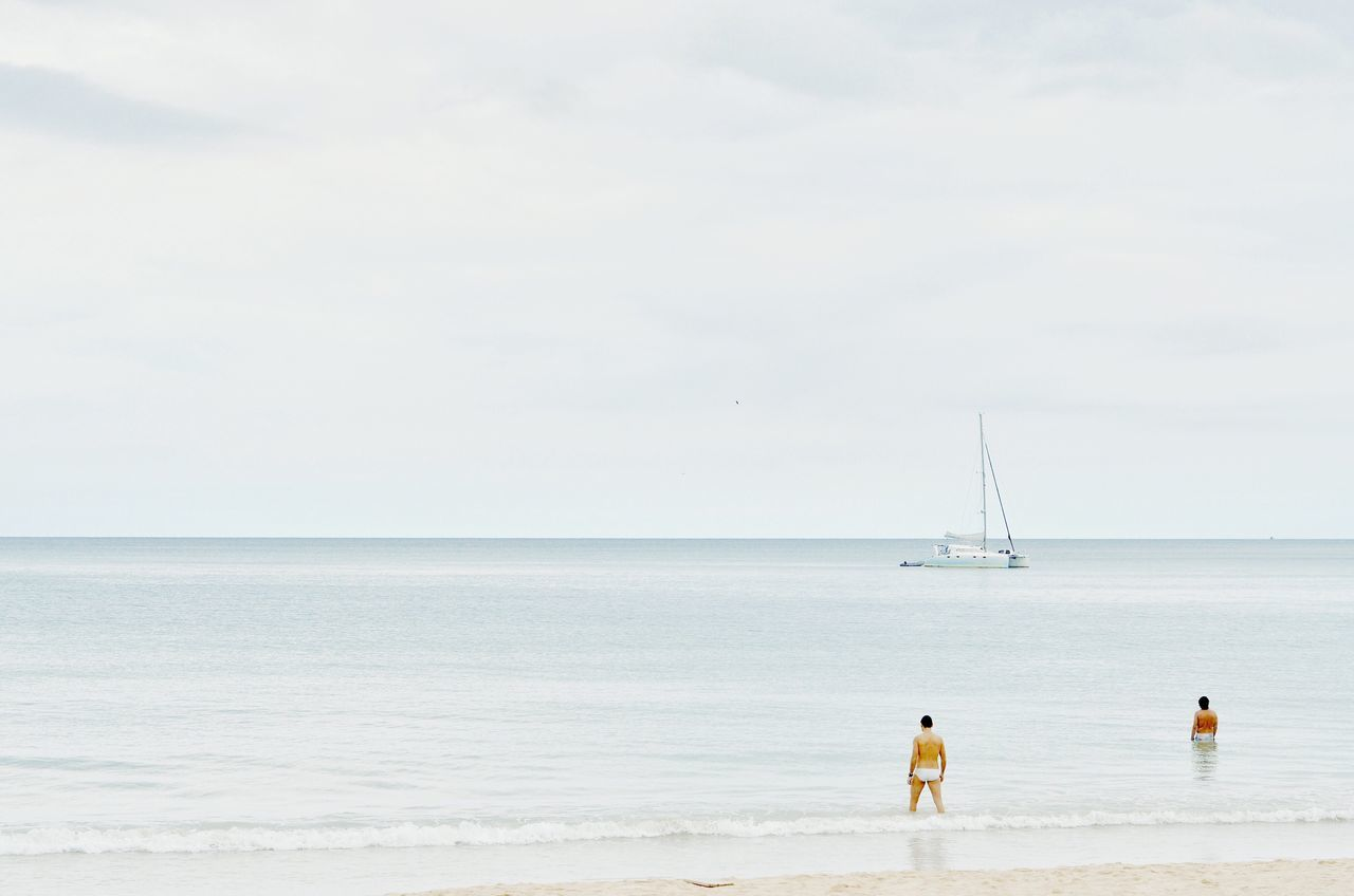 Beautiful stock photos of design, sea, two people, horizon over water, rear view